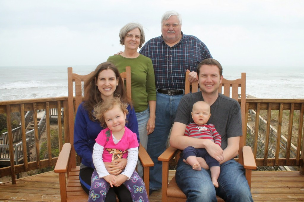 George and Mary enjoy family time with their daughter Jessica, son-in-law Rob, and grandchildren Libby and Nathaniel.