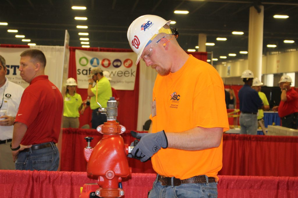 Jared Sutliff, Cen-Cal Fire Systems, Inc., Lodi, California and AFSA's National Apprentice Competition winner, won the safety award.