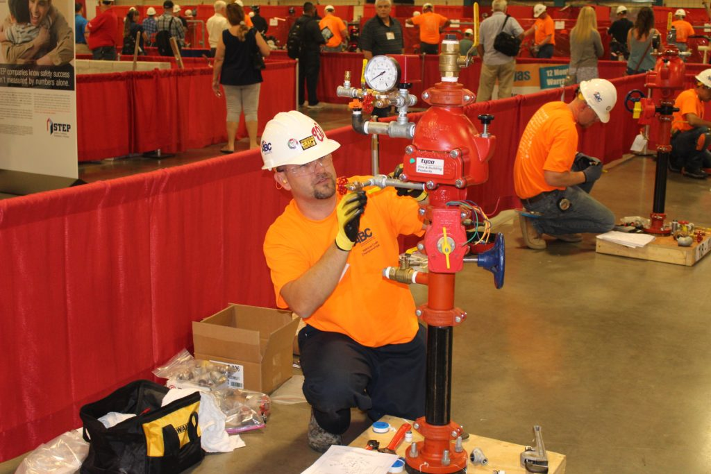 Jason Smith, an apprentice with AFSA member Piper Fire Protection, St. Petersburg, Florida, was a competition finalist.