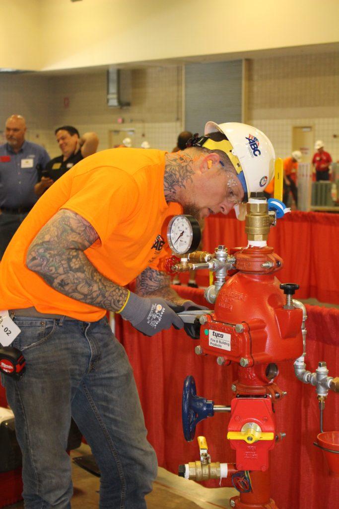 Jon Boykin with AFSA member Wayne Automatic Sprinkler Comapny, Apopka, Florida, was a finalist.