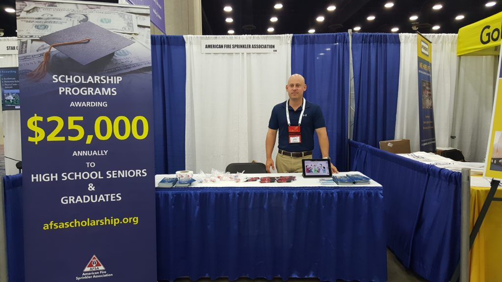 Conor Kauffman of Kauffman Co., Houston, Texas was one of the volunteers manning the AFSA NextGen Initiative booth at SkillsUSA.