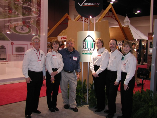 Exhibiting at the 1996 International Builders' Show, from left to right: Jim Dalton, Janet Knowles, Ron Hazelton, Peg Paul, Steve Muncy, and Julie Reynolds.