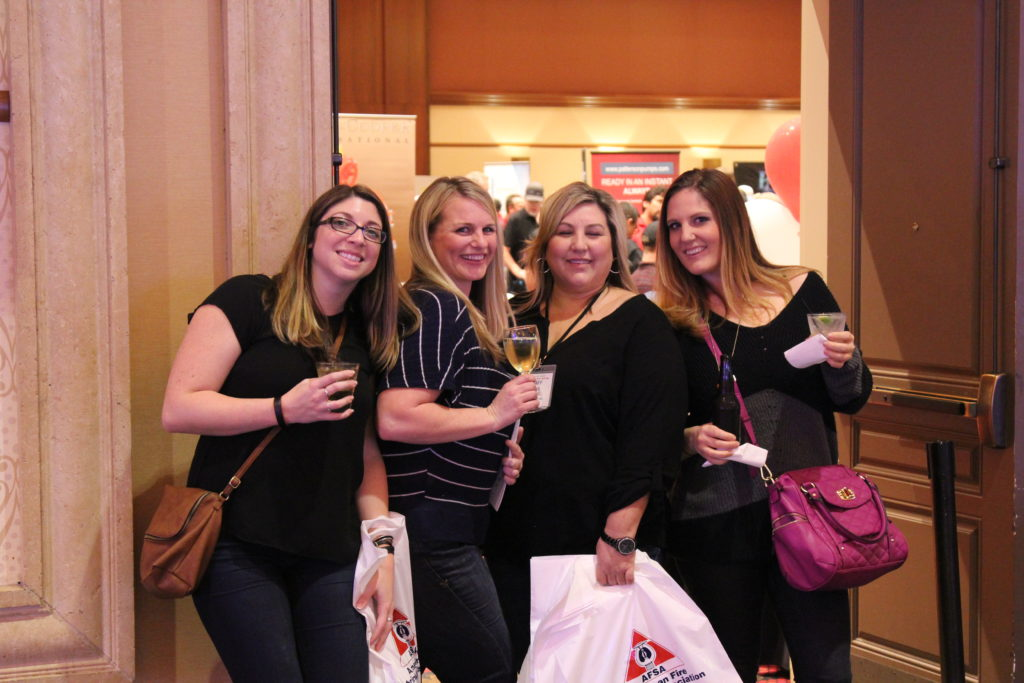 Attendees Julianna Rovegno, Sarah Sammon, Tammie Randall and Erin Cessna of Mr. Sprinkler Fire Protection enjoying the show.