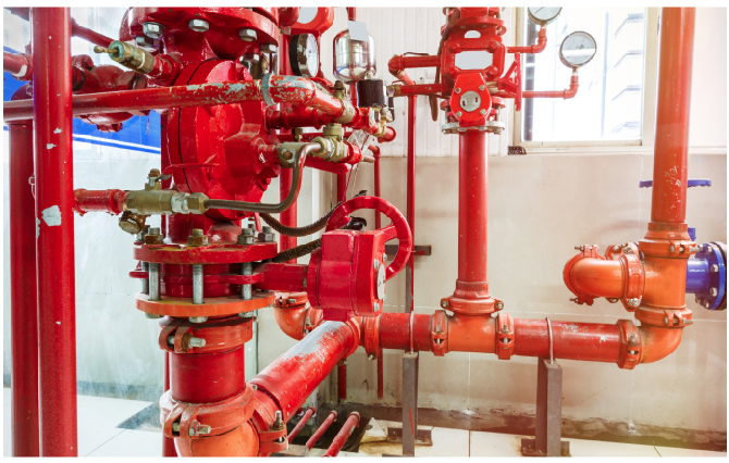 Figure 3. Engineers specify fire sprinkler systems intended to last the life of a new building – 50 years or more.